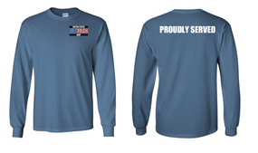 US Navy Veteran Long-Sleeve Cotton Shirt  Proudly- (P)