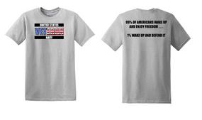 US Navy Veteran Cotton Shirt- Wake Up- (FF)