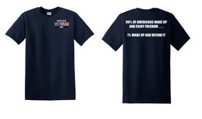 US Navy Veteran Cotton Shirt- Wake Up- (P)