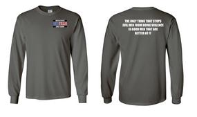 US Coast Guard Veteran Long-Sleeve Cotton Shirt- Evil- (P)