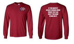 US Coast Guard Veteran Long-Sleeve Cotton Shirt- Flag- (P)