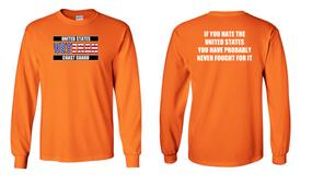 US Coast Guard Veteran Long-Sleeve Cotton Shirt- Fought- (FF)
