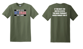 US Coast Guard Veteran Cotton Shirt- Fought- (FF)