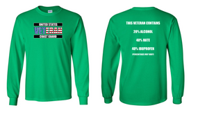 US Coast Guard Veteran Long-Sleeve Cotton Shirt- Hate- (FF)
