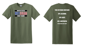 US Coast Guard Veteran Cotton Shirt- Hate- (FF)