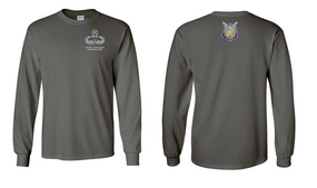 1-17th Cavalry (Crest) Master Blaster Long-Sleeve Cotton Shirt