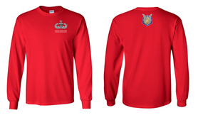 1-17th Cavalry (Crest) Senior Jumpmaster Long-Sleeve Cotton Shirt
