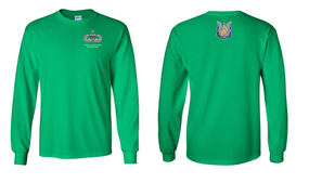 1-17th Cavalry (Crest) Senior Paratrooper Long-Sleeve Cotton Shirt
