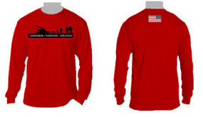 RED - Remember Everyone Deployed (Flag)  Long-Sleeve Cotton T-Shirt