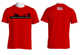 RED - Remember Everyone Deployed (Flag)  Cotton T-Shirt