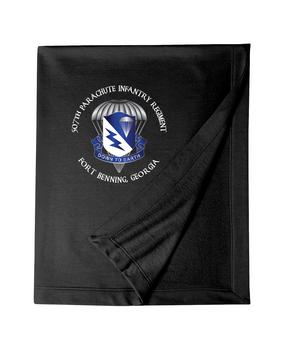 507th Parachute Infantry Regiment Embroidered Dryblend Stadium Blanket