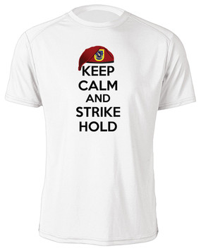 "1/504th Parachute Infantry Regiment ""Keep Calm"" Moisture Wick T-Shirt"