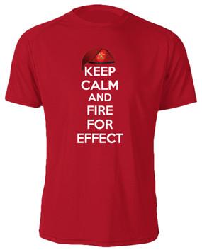 """1/319th Field Artillery  """"Keep Calm"""" Cotton Shirt"""
