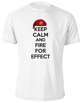 """1-319th Field Artillery """"Keep Calm"""" Moisture Wick T-Shirt"""