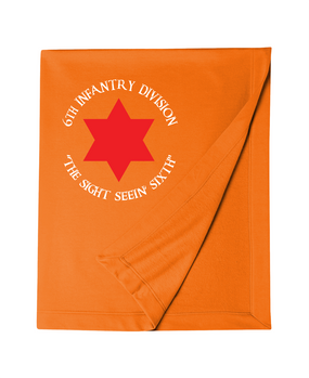 6th Infantry Division Embroidered Dryblend Stadium Blanket (C)