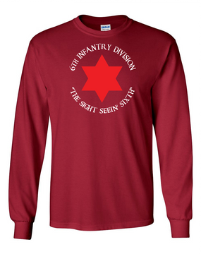 6th Infantry Division Long-Sleeve Cotton T-Shirt  (FF)(C)