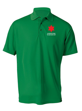 6th Infantry Division Embroidered Moisture Wick Polo