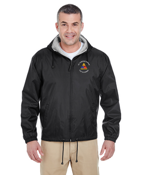 1st Armored Division Embroidered Fleece-Lined Hooded Jacket