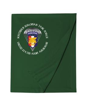 Southern European Task Force SETAF Embroidered Dryblend Stadium Blanket  (Crest)