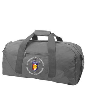 Southern European Task Force SETAF Embroidered Duffel Bag