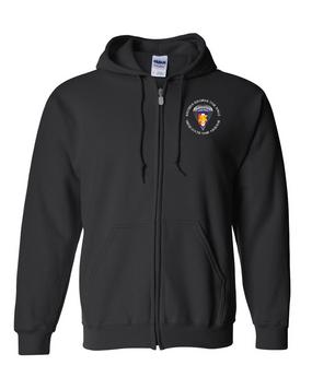 Southern European Task Force SETAF Embroidered Hooded Sweatshirt with Zipper