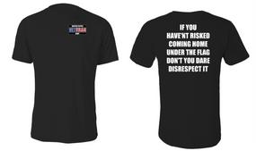 US Navy Veteran Cotton Shirt- Flag Disrespect- (P)