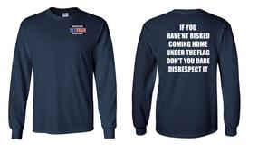 US Marine Corps Veteran Long-Sleeve Cotton Shirt  -Flag Disrespect- (P)