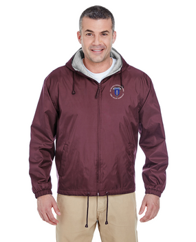 8th Infantry Division Airborne Embroidered Fleece-Lined Hooded Jacket