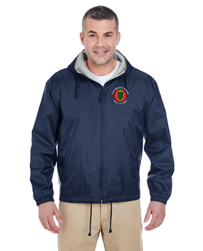 24th Infantry Division Embroidered Fleece-Lined Hooded Jacket