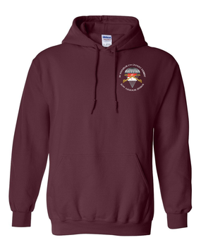 1/17th Cavalry Guidon  Embroidered Hooded Sweatshirt-M