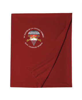 1st Squadron 17th Cavalry Regiment (Guidon)  Embroidered Dryblend Stadium Blanket-M