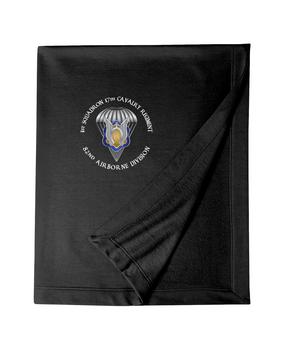 1st Squadron 17th Cavalry Regiment Embroidered Dryblend Stadium Blanket-M