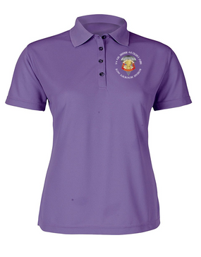 Ladies 3/4 ADA Embroidered Moisture Wick Polo Shirt-M