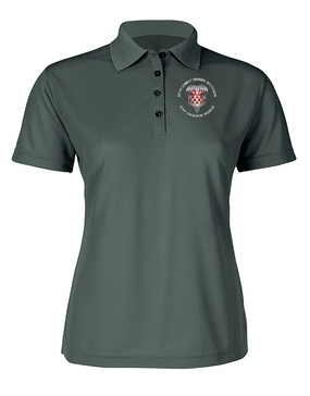 Ladies 307th Combat Engineer Battalion Embroidered Moisture Wick Polo Shirt  (C)-M