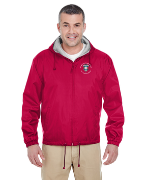 313th MI Battalion Embroidered Fleece-Lined Hooded Jacket-M