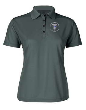 Ladies 325th Airborne Infantry Regiment Embroidered Moisture Wick Polo Shirt  (C)-M