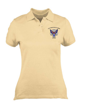 Ladies 325th Airborne Infantry Regiment  Embroidered Moisture Wick Polo Shirt-M