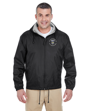 82nd Aviation Embroidered Fleece-Lined Hooded Jacket-M