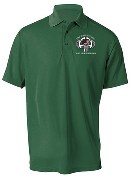 "82nd Signal Battalion ""Punisher""  Embroidered Moisture Wick Polo-M"