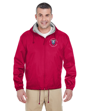 82nd Hqtrs & Hqtrs Embroidered Fleece-Lined Hooded Jacket-M