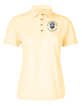 Ladies 82nd Hqtrs & Hqtrs  Embroidered Moisture Wick Polo Shirt (C)-M