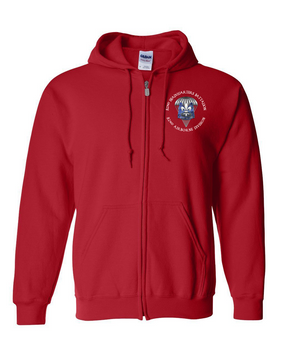 82nd Hqtrs & Hqtrs Battalion Embroidered Hooded Sweatshirt with Zipper-M