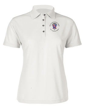 Ladies 508th Parachute Infantry Regiment  Embroidered Moisture Wick Polo Shirt  (C)-M