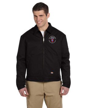 82nd Airborne Division (C) Embroidered Dickies 8 oz. Lined Eisenhower Jacket-M