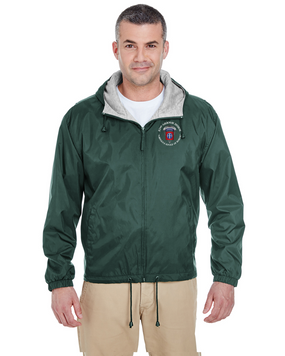 82nd Airborne Division (C) Embroidered Fleece-Lined Hooded Jacket-M