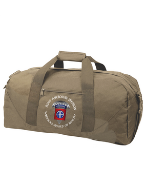 82nd Airborne Division (Parachute) Embroidered Duffel Bag-M