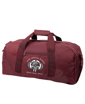 """82nd Airborne Division """"Punisher"""" Embroidered Duffel Bag-M"""