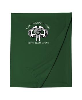 82nd Airborne Division Punisher Embroidered Dryblend Stadium Blanket-M