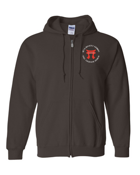 """187th RCT """"Torii""""  Embroidered Hooded Sweatshirt with Zipper"""