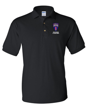 Berlin Brigade Embroidered Cotton Polo Shirt